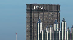 4K Pittsburgh Skyline Zoom 3741 Stock Footage