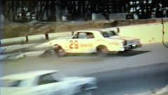 8mm Vintage Film-1970's NASCAR Racing- Riverside International Raceway Crashes - stock footage