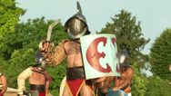 Stock Video Footage of gladiator close up