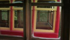 4K Duquesne Incline Cars Pass 3746 Stock Footage