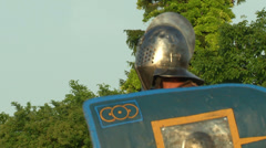 Stock Video Footage of gladiator close up Secutor