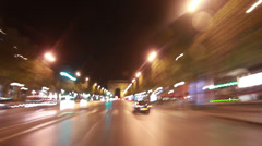 Paris by Night Stock Footage