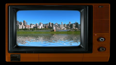 Television set Stock Footage