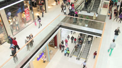 Shopping mall opening - stock footage