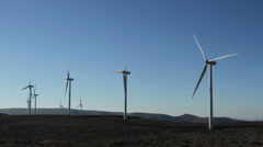 Central washington wind farm 13 Stock Footage