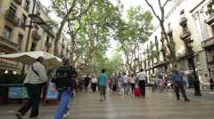 Barcelona Les Ramblas Stock Footage