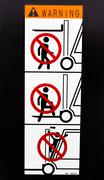 safety sign for forklift - stock photo