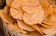 Natural potato chips Stock Photos