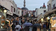 Stock Video Footage of Mosque in the Rhodes old town and Socrates street.