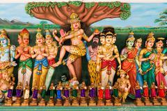 traditional hindu gods statues - stock photo