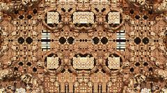 Abstract three-dimensional fractal like a strange repetitive geometric pattern - stock illustration