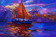 Sail ship Stock Illustration