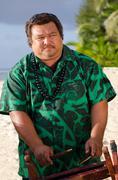 polynesian pacific island tahitian music - stock photo