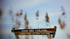 Wood Board Lower Third - stock after effects
