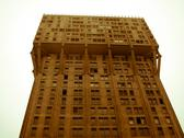 Stock Photo of retro looking torre velasca brutalist architecture milan
