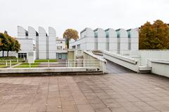 bauhaus archive building in berlin - stock photo