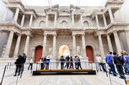 Stock Photo of people in market gate hall of pergamon museum