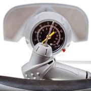 Valve and manometer of manual air pump close up Stock Photos