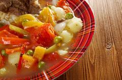 Stock Photo of traditional bulgarian soup chorba