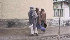 Tribal Men AFGHANISTAN Kabul Street Scene War 1980s Vintage Film Home Movie 7135 - stock footage