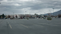 Driving POV to Costco Wholesale store HD 005 Stock Footage