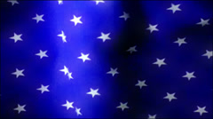 Old American Flag Waving Close Up Stock Footage