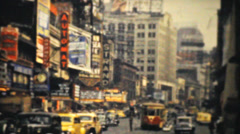 Stock Video Footage of Strand Theatre On Broadway In New York City-1940 Vintage 8mm film