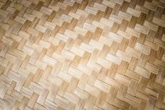 pattern thailand handmade work from bamboo - stock photo