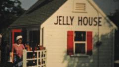Town Cryer At Jelly House In Provincetown Massachusetts-1940 Vintage 8mm fil Stock Footage