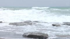Storm waves and wind - stock footage