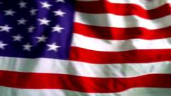 USA American flag stars and stripes waving Stock Footage