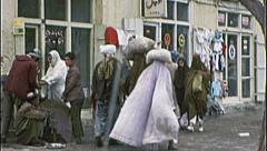 AFGHANISTAN Kabul Street Scene People Pre War 1980s Vintage Film Home Movie - stock footage
