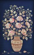 handmade, roses made of straw - stock illustration