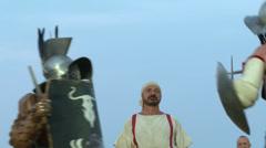 Gladiator munus Hoplomachus Thraex 02 Stock Footage