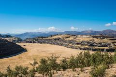 Sacsayhuaman ruins peruvian andes  cuzco peru Stock Photos