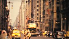 Downtown New York On Fifth Avenue-1940 Vintage 8mm film - stock footage