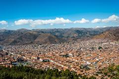Cuzco cityscape  peruvian andes Stock Photos