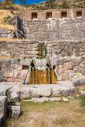 Tambomachay ruins peruvian andes  cuzco peru Stock Photos