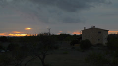 Mallorca coutryside at sunset  Stock Footage