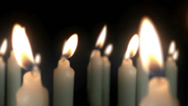 Stock Video Footage of Candles