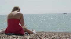 Brighton beach 05 Stock Footage