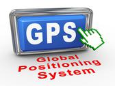 Stock Illustration of 3d hand cursor gps button