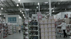 Shopping in Costco Wholesale Membership store HD 007 Stock Footage