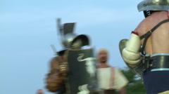 Gladiator munus Hoplomachus Thraex 05 Stock Footage