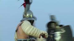 Gladiator munus Hoplomachus Thraex 06 Stock Footage