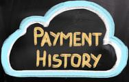 Stock Illustration of payment history concept