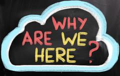 Why are we here concept Stock Illustration