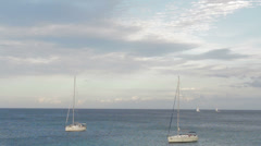Sailboats on the sea near Majorca HD Stock Footage