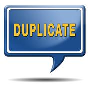 duplicate - stock illustration