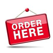 order here sign - stock illustration